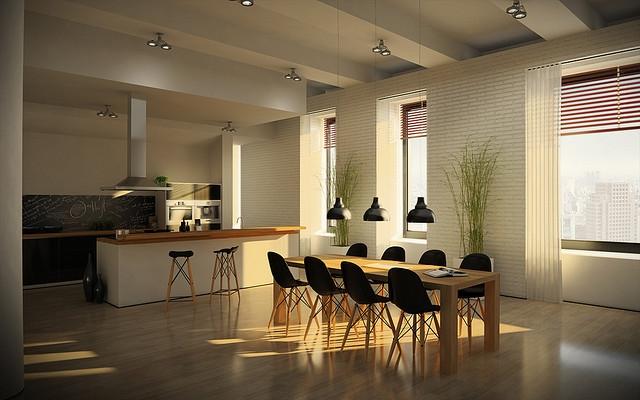 kuchnia loft